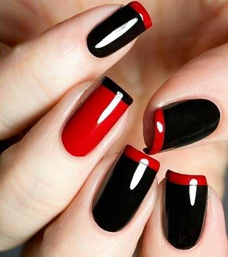 Redblack Nail Red, French Manicure, Hot