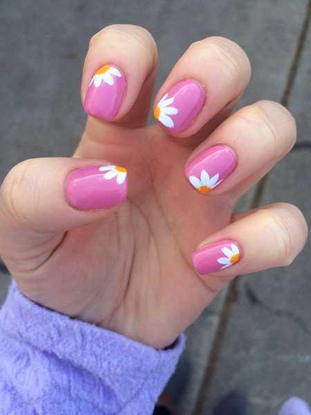 Pink, Pinkpink Bow, Valentine Nail, Shellac, Gel, Bow Nail