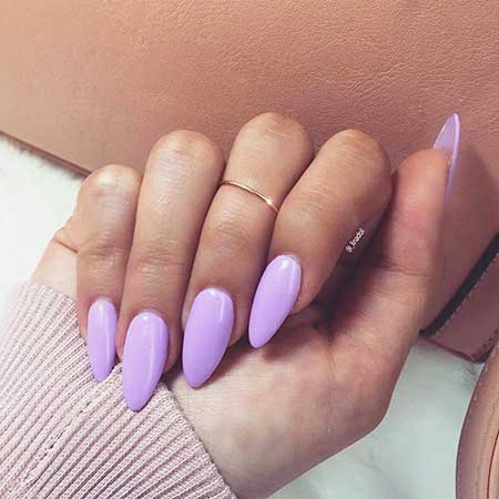 Pink Nail, Pink, Stiletto S Almond