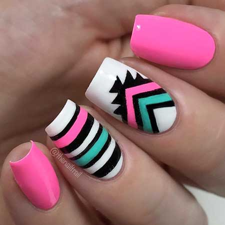 Nail, Tribal Nail, Arta Nail, Chevron Nail, Aztec Nail, Decoration, Aztec