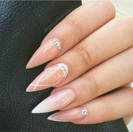 Simple Stiletto Nail Design