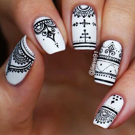 Doodle Nail, Notebook Doodles, Tribal Nail, Art, Notebook Nail, Halloween Henna