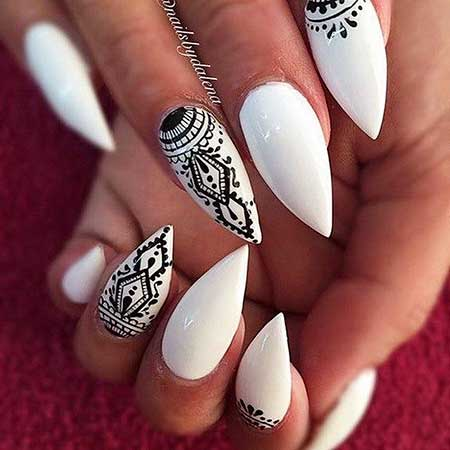 Black And White Nail Design - 24 Popular Summer Nail Designs 2017 Best Nail Art Designs 2018