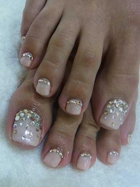 Toe Nail Wedding Art Glitter Geltoes