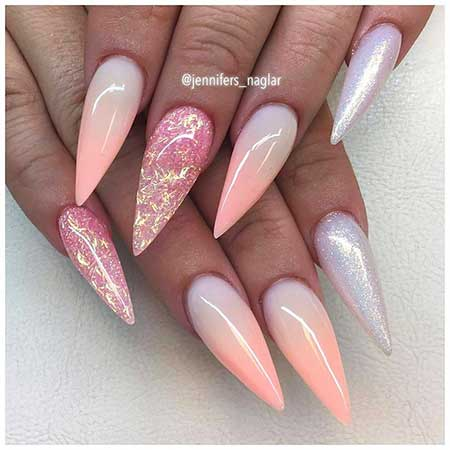 Stiletto Pink Nail, Pink, Coffincoffin, Stiletto, Idea, Art,