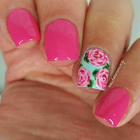 Nail, Pink, Pink Art, Valentine Nail, Lace Nail, Lace, Valentine, Idea