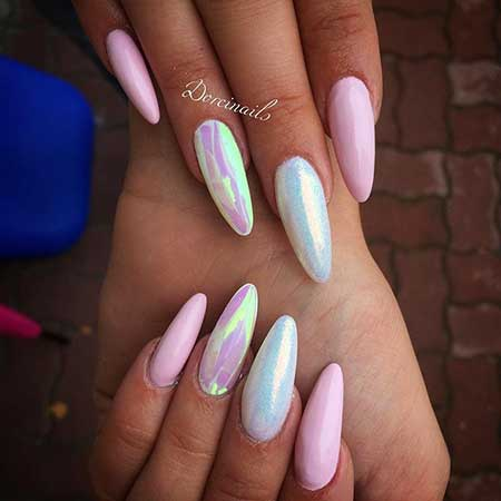 Stiletto Nail, Art, Pretty Nail, Pink, Stiletto, Idea, Pretty