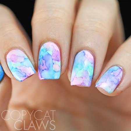 Art, Polish, Floral Nail, Flower Nail, Galaxy Floral