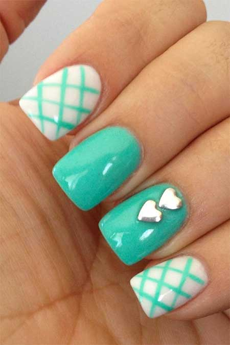 Nail, Pretty Nail Heart Nail, Easy Nail, White Heart, Heart, White, Easy, Pictures