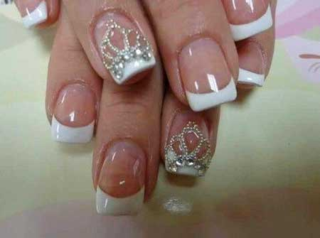 French Manicure, Wedding Lace Nail French, Manicures, Pretty Nail, Lace, Wedding, Idea