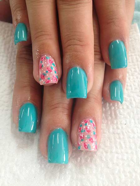 Easy Nail, Pretty Nail, Summergel Nail Color, Roses, Color, Decoration, Easy