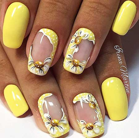 Nail, Art Simple Flower Nail, Floral