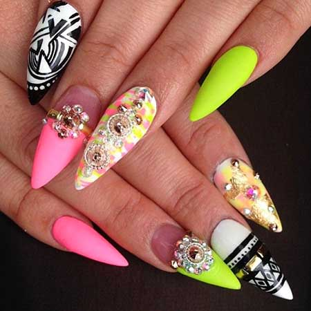 Stiletto Nail, Art, Ps, Stiletto, Single, 2017, Summer