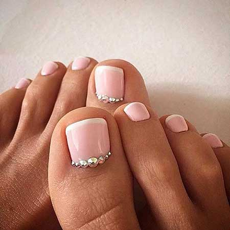 Weddingtoe Nail, Pink S, Pink, Decoration, Toe