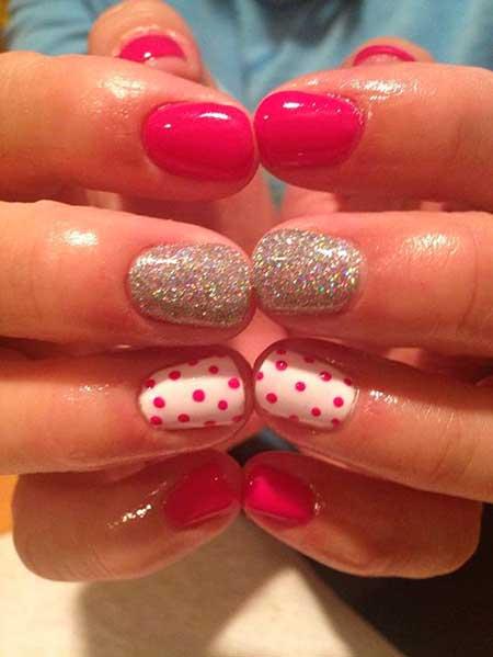 Pink, Art, Glitter, Acrylic Pink Gel Glitter Nail, Candy
