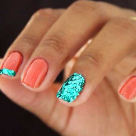 Glitter Nail, Color Bos, Mermaid Art, Summer Nail, Mermaid, Color