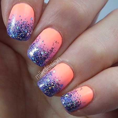 Glitter Nail, Glitter, Polish, Purple, Purple Sparkle, Sparkle, Blue