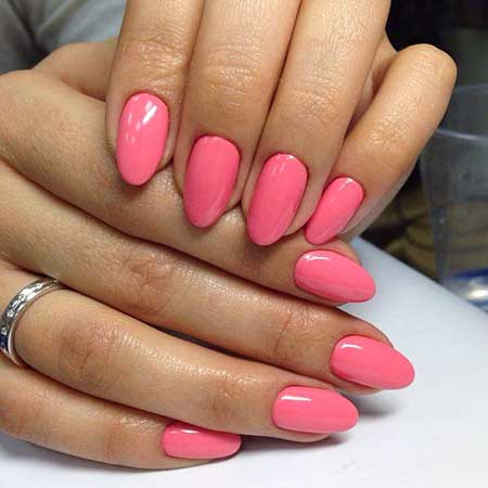 Pink Pink, Nail Valkira, Pink, Color, Almond