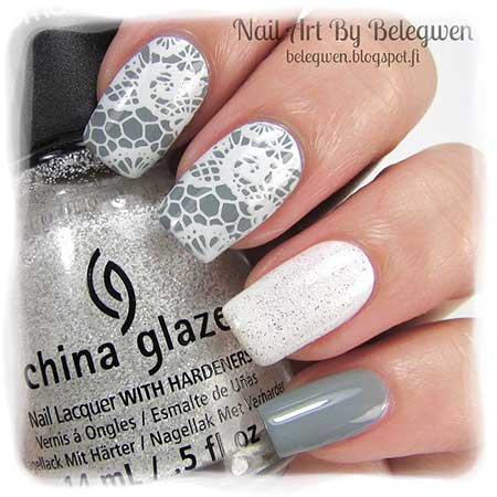 Nail, Polish, Art, Pretty Nail, Opi, Stamps, Lace, China