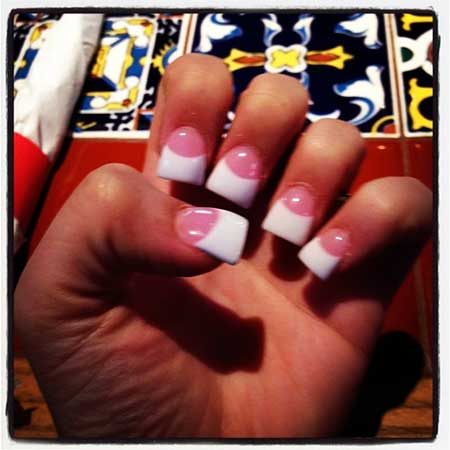 French Manicure French, Manicures, Wedding French Tips, French White, Pink,