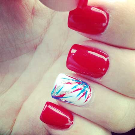 Nail, Red Summer Red, Beautiful, Pink Pink, 4Th, July