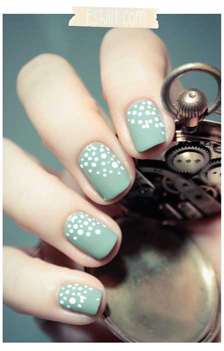 Nail Dots, Summer Dots, Blue Dot Nail, Mint, Green, Blue, Dot
