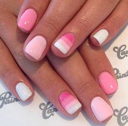 Pink, Manicures, French Manicure White, French, 2017, Manicure