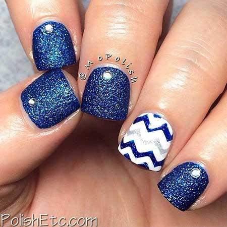 17 New Blue And White Nail Designs Best Nail Art Designs 2018