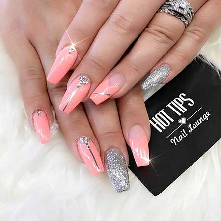 Stiletto Pink Nail, Pink, Ps, Coffin Hot