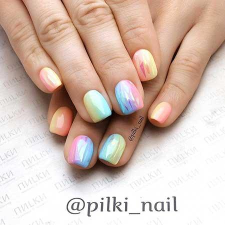 Pastel Nail, Summer Art, Rainbow Rainbow, Pastel