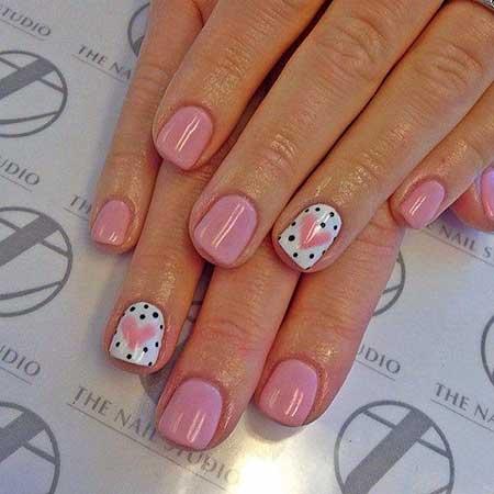 Valentine Nail Polka Dotsart Nail, Art, Pink Bow, Pink, Bow, Polka