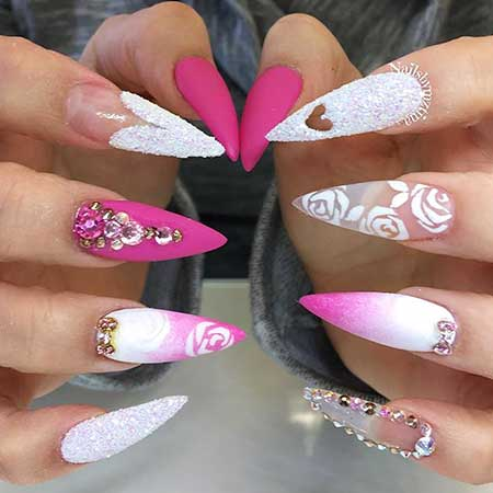 Stiletto Nail, Stilettos, Acrylic Stiletto, Queen, Happy, Birthday, Idea, Acrylic,