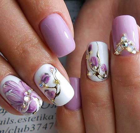 Flower Nail, Purple Flowers, Art, Purple Nail Purple, Floral