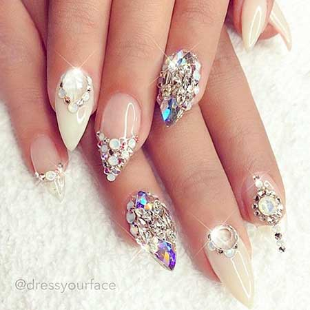 Nail, Wedding Art, Stiletto Mermaidmermaid, Stiletto, Wedding