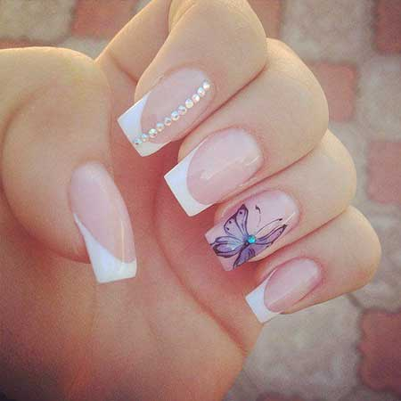 Nail, Pink Stiletto Art, Pink, Weddingbutterfly