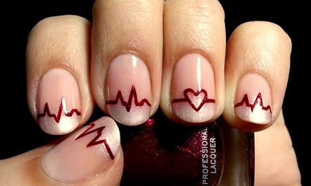 Valentine Nail Design, Nail Day Art Acrylic