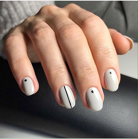 Nail Dot Polka Stripes