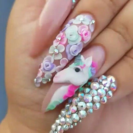 Nail Art 3D Stiletto