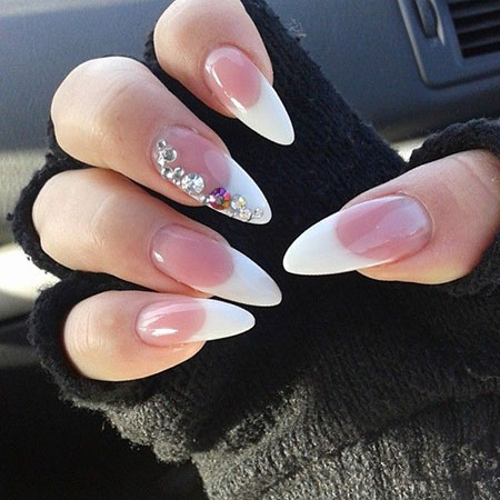 Nails Nail French Stiletto