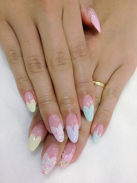 Nail Shape Almond Heart