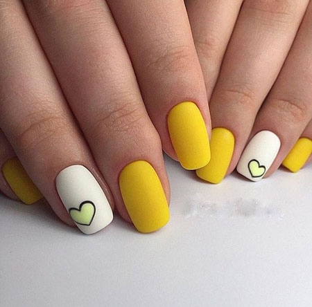 Nail Nails Yellow Design
