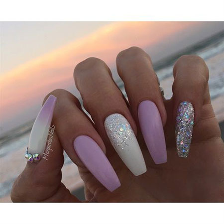 White Coffin Nails Nail