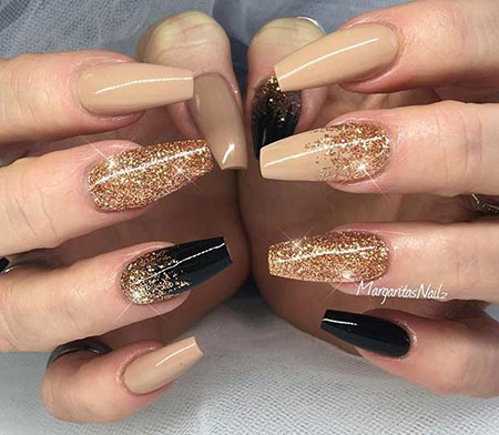 Nails Nail Gold Black