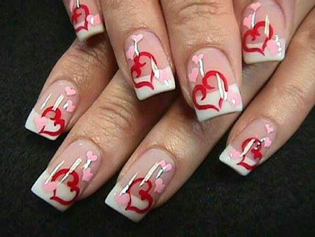 2018 Valentines Day Nail Art, Nails Nail Valentines Heart