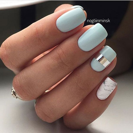 Summer Design Square Nails, Nail Design Nails Ideas
