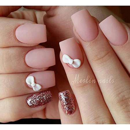 Cute Pink 3D Nail Art, Nail Nails Manicure 3D
