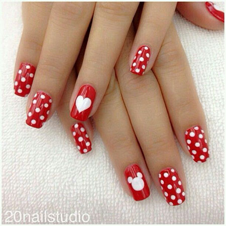 Dot Work Nail Design, Nail Nails Mouse Minnie