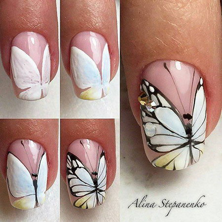 Nail Nails Butterfly Design