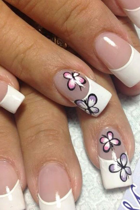 Butterfly Nail Manicure Nails