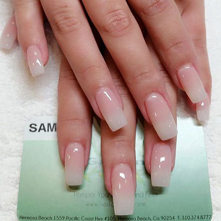 Natural Nail Design, Nail Acrylic Nails Manicure